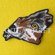 Custom 100% Patch emblem, lovely animal Wolf embroidery patch iron on cheap price(China)