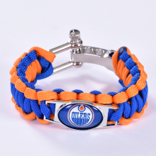 Edmonton Oilers Custom Paracord Bracelet NHL Team Hockey Bracelet Survival Bracelet, Drop Shipping! 6Pcs/lot!