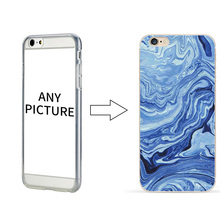 100 pcs wholesale DIY mobile phone case for iPhone 6 custom design cell phone Marble Pattern Case for iPhone 7 7 plus(China)