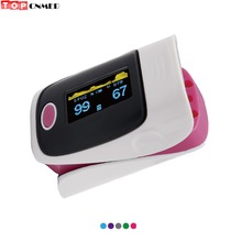 Pulse Oximeter SPO2 PR Blood Oxygen Saturation Monitor OLED Alarm Beep Sound Oximetro de pulso +Bag/Rubber/Case Optional(China)