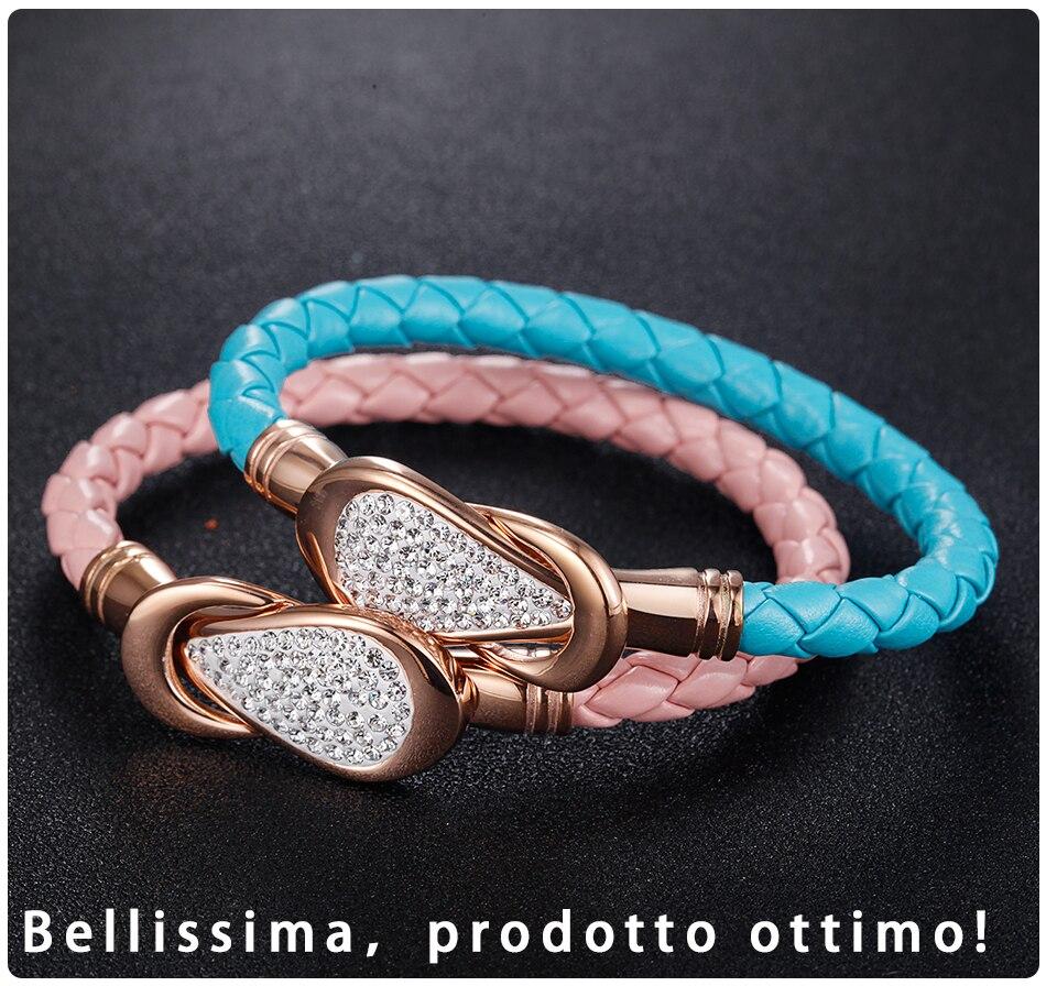 Women Leather Bracelet PU (5)