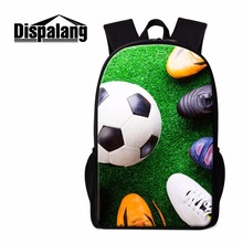 Dispalang Footbally School Backpack for Boys Teenagers Soccerly Bookbags Sporty Back Pack for Children Cool Book Bag Mochilas