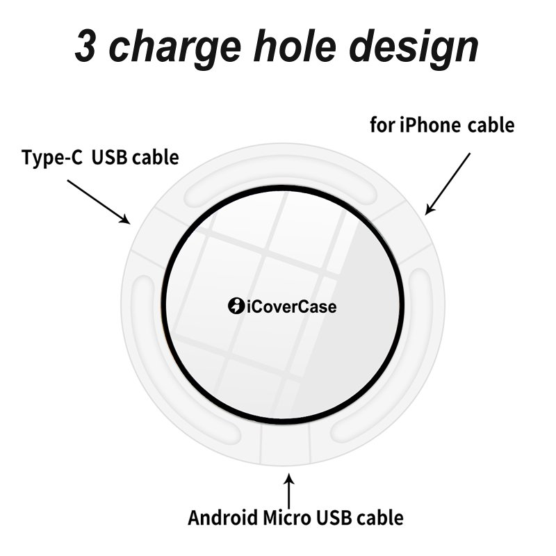 Wireless Charger For Samsung Galaxy Note 5 S7 S6 Edge Charging Power Bank Phone Accessory Pad For Samsung Galaxy 5 S6 S7 Charger 7