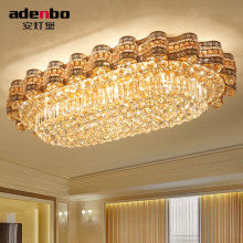 Modern Gold LED Ellipse Ceiling Lights 115cm x 72cm With Crystal Balls For Living Room Dining Room Lighting (ADB978)