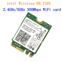 New For Intel Dual band Wireless-N 7265 7265NGW 802.11N 2 x 2 WiFi 300Mbps NGFF M.2 card 7265NB 2.4G / 5G(China)