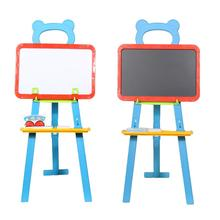 3in1 Children Kids Learning Easel Stand Magnetic White Black Board Chalkboard Blackboard Whiteboard with Alphabet Number Chalk(China)