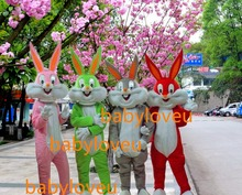 New rabbit mascot costume bugs bunny mascot fursuit complete costume business custom Character carnival costume