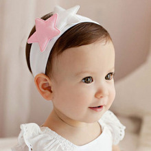 1 PC Pink White Lovely Kids Girls Cute Star Headband Headwear Hairband Accessories Newly Hair Band Accessories