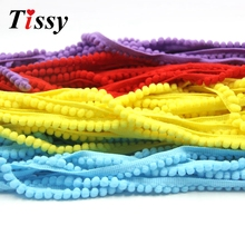 18Yards/Lot 5MM Pom Pom Trim Ball Fringe Ribbon DIY Sewing Accessory Lace 12 Colors For Home Wedding Party Decorations(China)