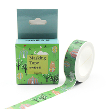 1PCS 15mm*10m Animals Summer Camp Decorative Washi Tape DIY Scrapbooking Masking Tape School Office Supply Escolar Papelaria