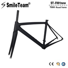 Super Light Full Carbon Road Frames T800 Cycling Road Bicycle Frames 700*23c Racing Road Carbon Framesets with Fork,Clamp(China)