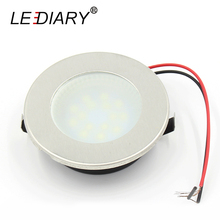 LEDIARY 10PCS Cabinet Lamp Mini LED Downlights Real 2W Round Lamp for Wine/Jewelry Display Lighting Spot 220V Warm/Cold White