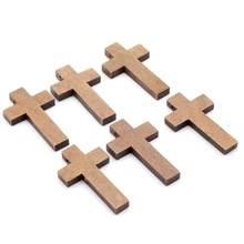 41x24mm 50pcs/lot Natural Wooden Faceted Wooden Cross Geometric Spacer beads For Jewelry making Handmake DIY Accessory MZ013(China)