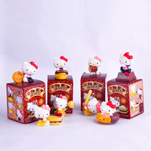 8pcs/lot 5-7cm Hello Kitty Action Figure Toy Anime Hello Kitty Chocolate Party Cake Toys For Children Birthday Gift Brinquedos