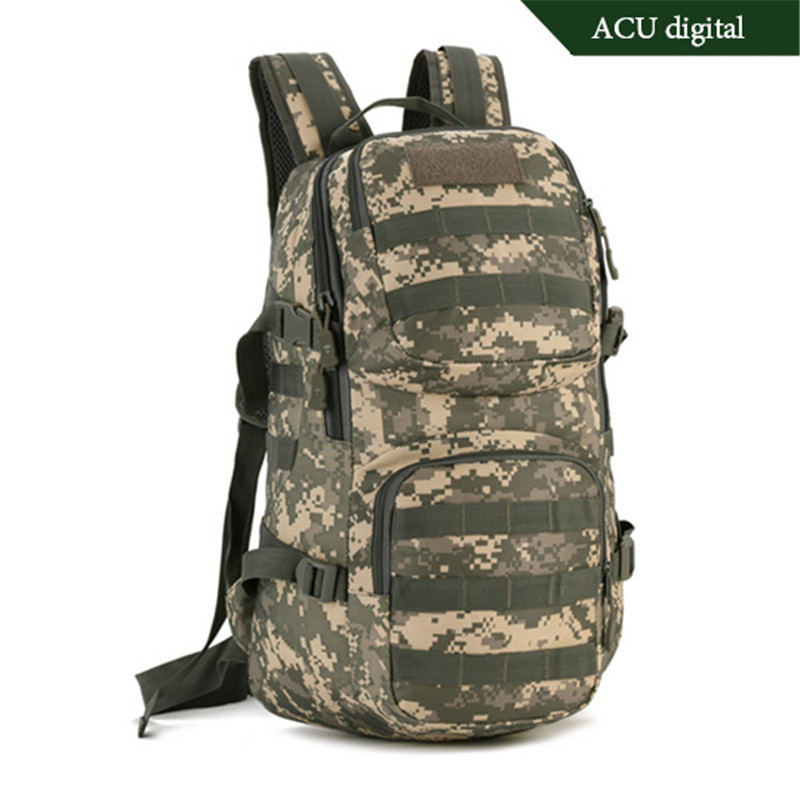 Military tactics backpack backpack 35 l tourism backpack Fashion Recreation boy bag notebook Laptop  camouflage  luxury<br>