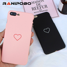 Buy Cute Love Heart Print Back Cover iPhone 7 6 6S Plus 5 5S SE Phone Case Hard PC Cases Coque iPhone 8 8 Plus for $1.08 in AliExpress store