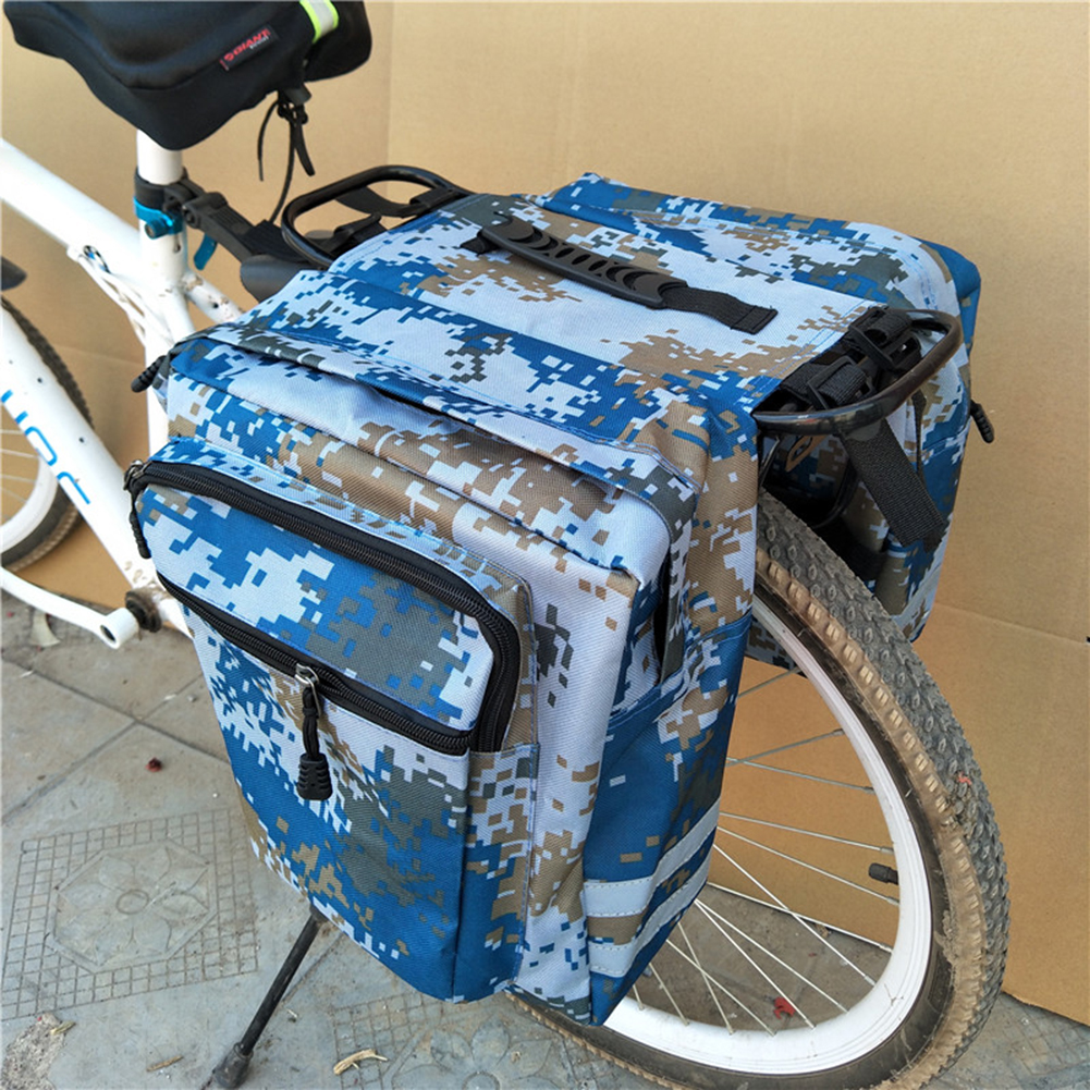 Mountain Bike Trunk Bags Bicycle Double Side Rear Rack Tail Seat Pannier H1