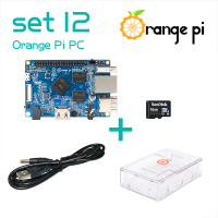 Hot Orange Pi PC SET12: Pi PC + Transparent ABS Case + Power Cable + 16GB Class 10 Micro SD Card Beyond Raspberry