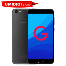 New UMIDIGI G Brand Mobile Phone MTK6737 Front Touch ID 5.0 inch 4G LTE Android 7.0 Mobile Phone