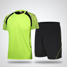 2016 New Men Soccer Jersey Football Clothing Big Size Customizable Summer Sportswear Set Male Breathable Soccer Football Jersey