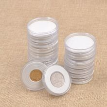 Plastic Coin Storage Cases 20 Pcs Capsules Holder Round 46mm Applied Clear Container Box Collection Display