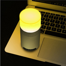 New The colorful lights outdoor LED Mini Bluetooth speakers Wireless Bluetooth Nightlight sound card Support TF card(China)