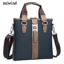 MIWIND NEW 2017 Men Leather soft Handbag Volume Business Briefcase Men's Top Handle Fashion Daily Carry Tote Shoulder Man Bag