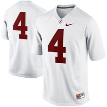 NIKE Jerseys Alabama Crimson Tide T.J Yeldon 4 College Ice Hockey Jerseys - Red Size M,L,XL,2XL,3XL(China)