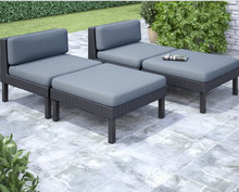 Factory direct sale All Weather Rattan Furniture Lounge Chair Chat Set Outdoor Seating(China)