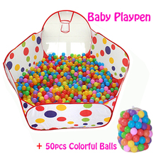 50pcs Balls+Outdoor/Indoor Baby Playpens For Children's Foldable Kids Ball Pool Activity&Gear Tent Fencing Corralito 0.9 1.2 1.5(China)