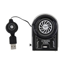Mini Vacuum USB Cooler Air Extracting Cooling Fan for Notebook Laptop Computer Peripherals Black
