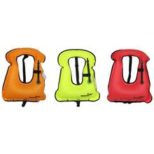LumiParty Personal Flotation Device Inflatable Lifejacket Portable Bright Color Snorkeling Vest Random Color(China)