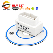 2017 High Quality Super Mini ELM327 Bluetooth OBD2 V2.1 Car Diagnostic Interface ELM 327 OBDII White Smart Wireless Scanner