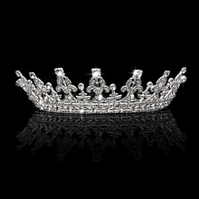 1Pc Vintage Headband Crown Tiara Pageant Prom Hair Jewelry For Wedding Bridal-W128