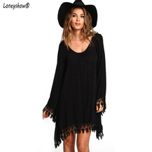 Buy 2018 Women Clothing Vintage Black Dress Autumn Dresses Long Sleeve Casual Vestido De Festa Loose Robe Femme Mini gril dress for $11.67 in AliExpress store
