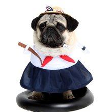Alta uniforme de la escuela ropa para perros ropa de perro trajes chaquetas  abrigos de Yorkshire gato ropa 4fab83c8cd53c