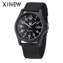 XINEW 2016 new arrival Outdoor Mens Date Stainless Steel Military Sports Analog Quartz Army Wrist Watch  Mar 08
