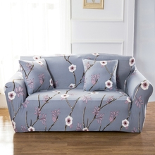 Universal Stretch Sofa Covers For Living Room Couch Loveseat Sofa Slipcovers Polyester Floral Corner Sofa Covers Elastic Covers