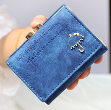 Brand Designer Women Wallet Bags Best Leather Button Clutch Purse Lady Short Handbag Bag 10 Colors For Woman N289(China)