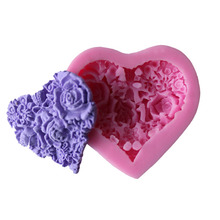 Baking DIY liquid silicone rubber mould love sugar flower cake mould tool(China)