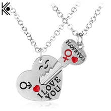 European Style Cupid I LOVE U Brand jewelry Pendant For Lover &wedding Power Necklaces Valentine's Day girl nice gifts