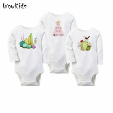 3 Pieces/lot Fashion Kids Girls Clothes Sets Cartoon Cactus Baby Rompers Boy Girl's Wear Baby Boy Clothing Freedrop Shipping