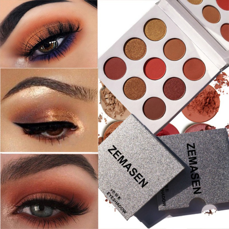 9Colors Eye Shadow Palette Natural Shimmer Matte Eyeshadow Powder Brand Professional Eyes Makeup Pallete Maquiagem 4