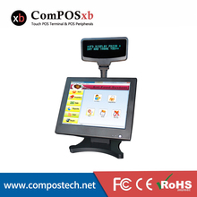 ComPOSxb 15 inch LED Touch Screen POS System With VFD Customer Display High quality For POS software Supermarket PC POS8815A(China)