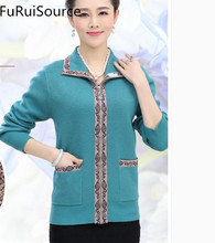 The spring and autumn period and the women's clothing in the winter the old coat render unlined upper garment mother coat sweate(China)