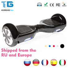 hoverboard Bluetooth Electric Skateboard Smart 2 wheel self Balance steering-wheel Standing scooter hover board(China)
