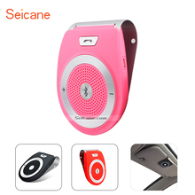 Seicane Wireless Built-in Speaker Microphone Sun Visor Bluetooth Handsfree Car Kit Support Two Phone Connection Noise Reduction(China)
