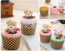 cake towel colorful bear/teddy creative gift towels cotton lovely towel 5pcs/lot wholesales discount 10%