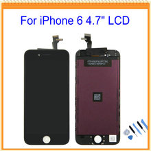 AAA Quality G+G No Dead Pixel For iPhone 6 4.7 inch LCD Display With Touch Screen Digitizer + Tools free shipping