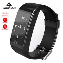 AOSMAN CK18 ECG heart rate blood pressure monitor  smart watch men 2017 new top selling  touch screen waterproof sportwatch hr
